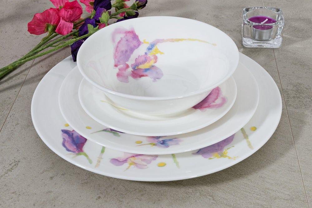 Image of Sweet Pea English Fine Bone China Cereal/Soup bowl