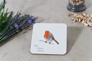Image of Set of Four Dickie Bird Melamine Coasters