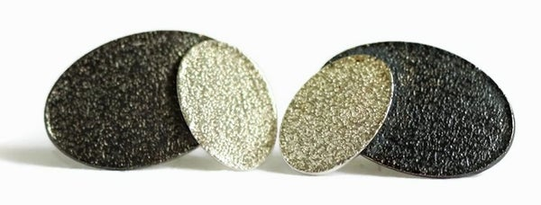 Image of Textured stud earrings