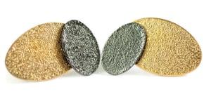 Image of Textured stud earrings