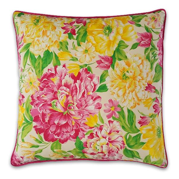 Kissen Pink Yellow Flowers Copaincopine