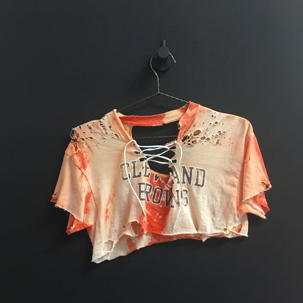 Image of MxM Browns Lace Up Crop