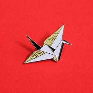 Image of Origami Crane, enamel pin - 'Origaminals' - lapel pin