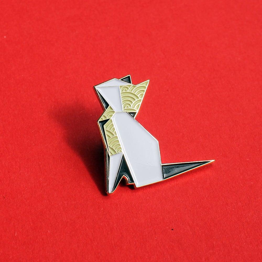 Origami Cat Enamel Pin Origaminals Lapel Pin Clorty Cat Crafts