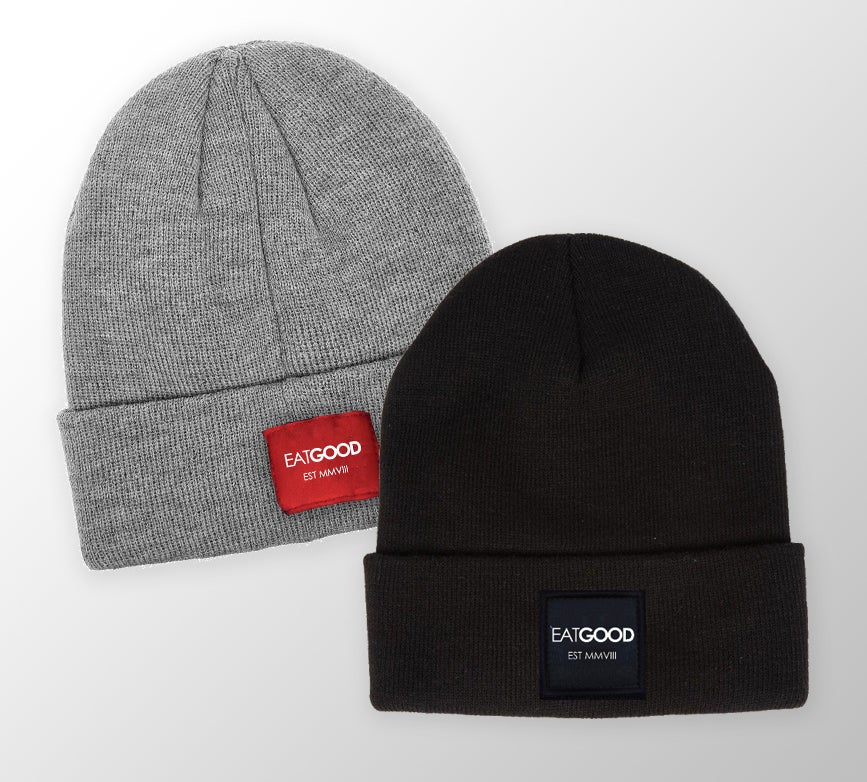 Image of EATGOOD Beanie (black/grey)