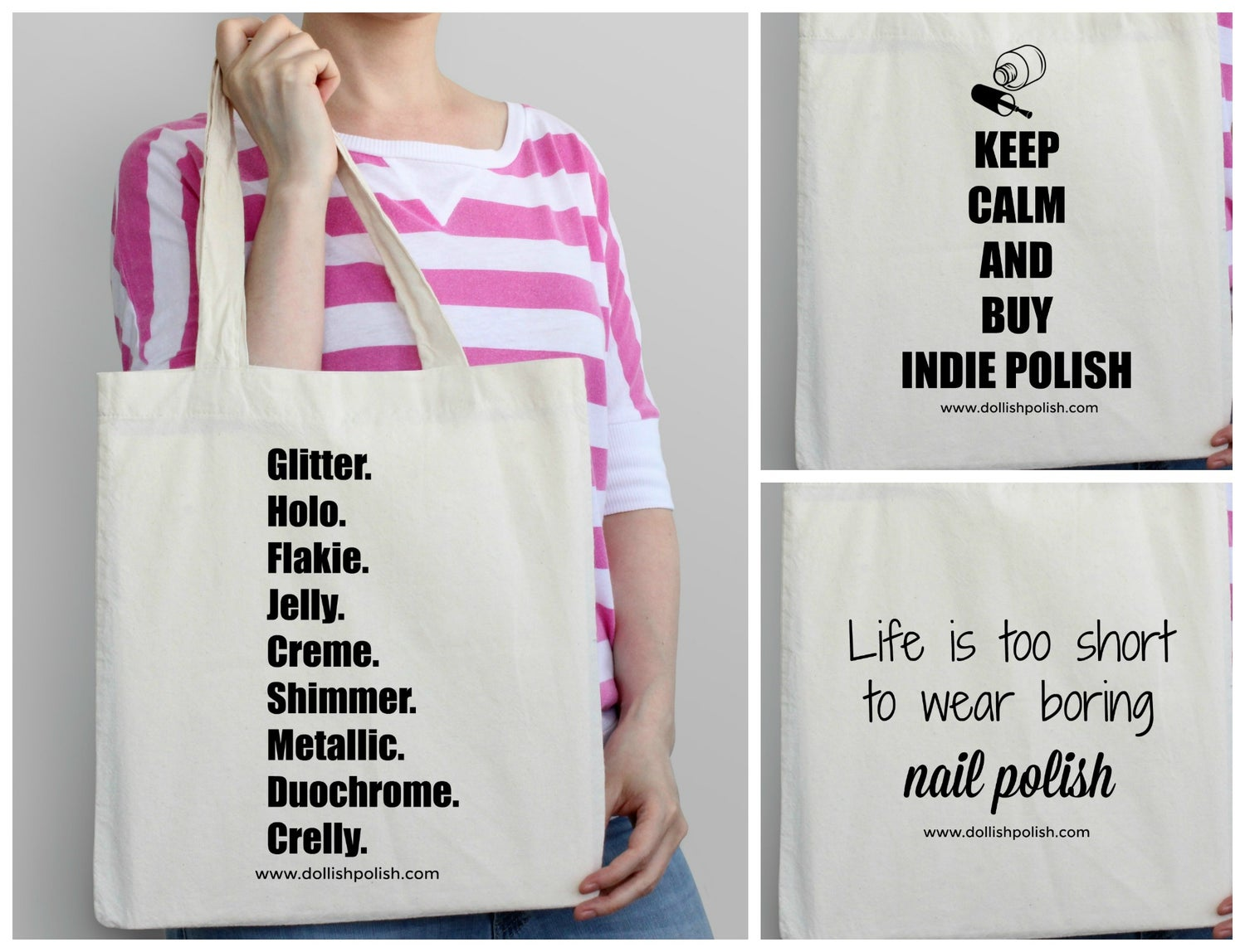 Image of Canvas Tote Bag - (free polish with every Tote purchase!)