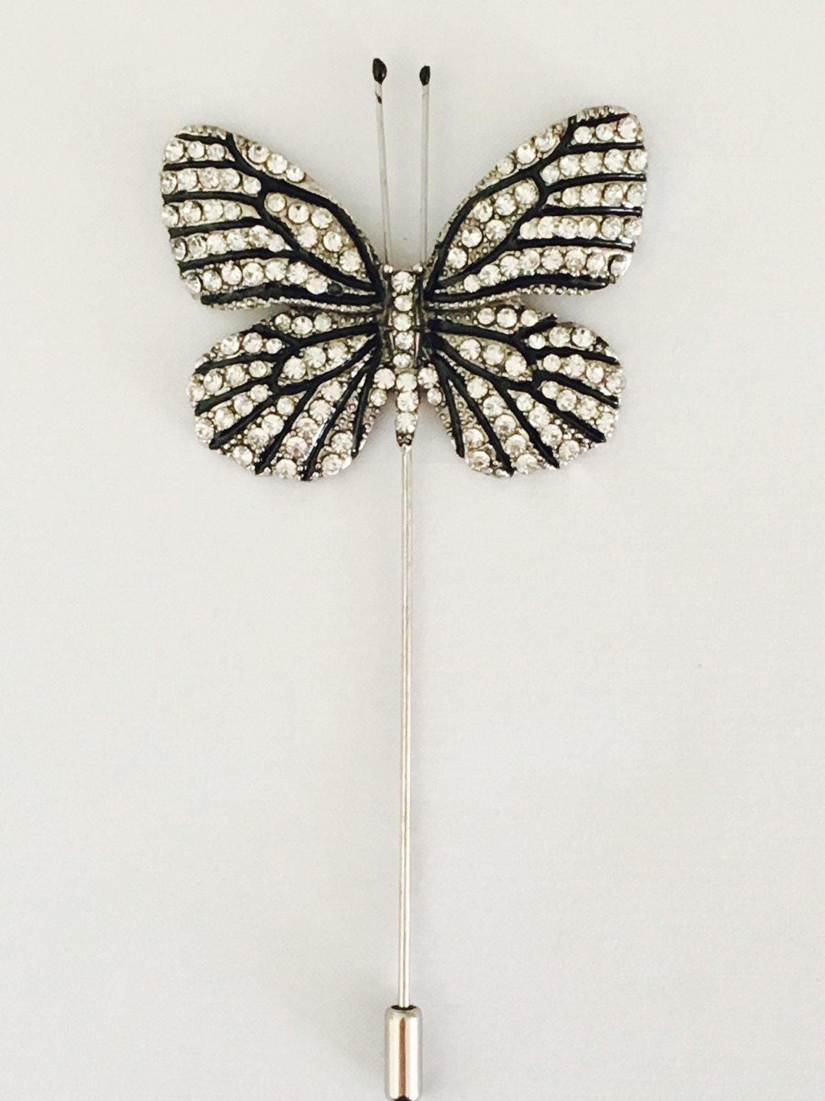 e70830d696e DapperFly.com — Elegant Butterfly Lapel Pin