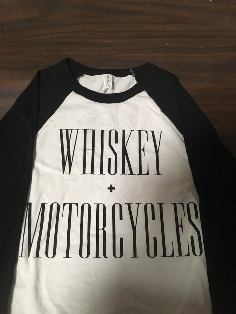 27b2afaa23f The Last Rebel Clothing Co. — Whiskey + Motorcycles Baseball Tee
