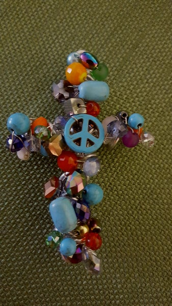Image of Turquoise Colored Peace Sign Pendant