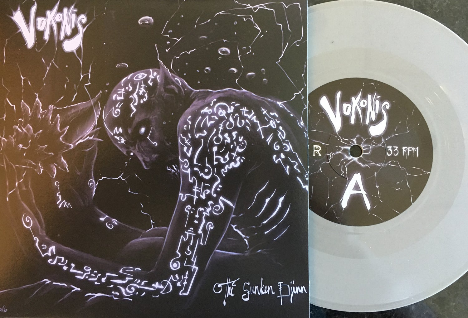 "Image of Vokonis - The Sunken Djinn 7"" Grey Vinyl Edition"