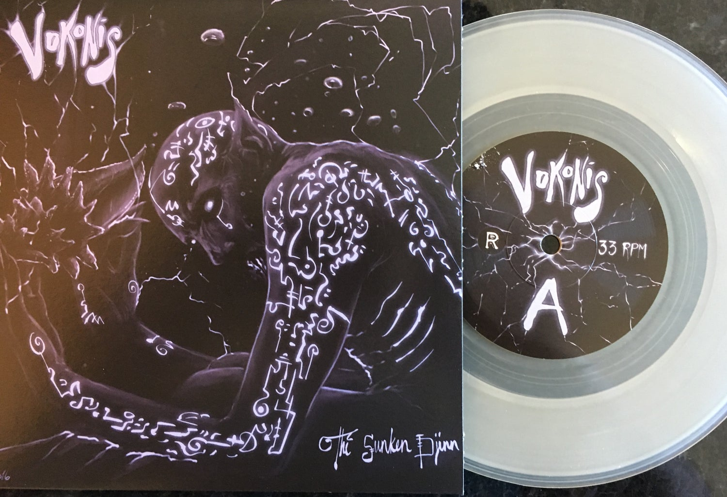 "Image of Vokonis - The Sunken Djinn 7"" Clear Vinyl Edition"