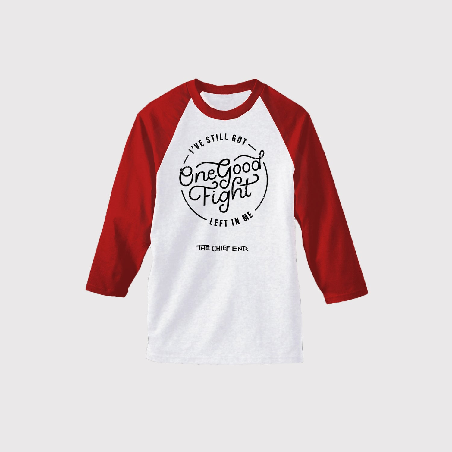 Image of Red and White Baseball Tee
