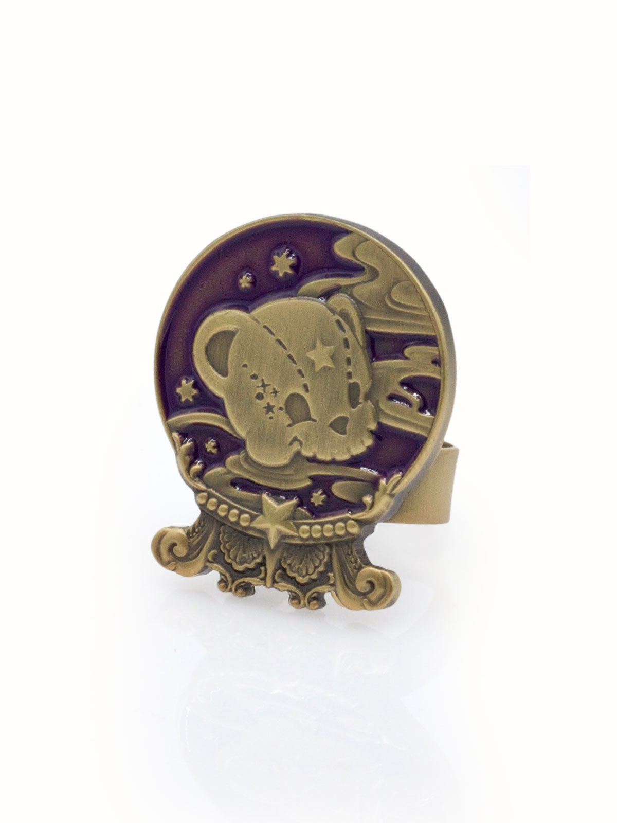 Image of Kuma's Crystal Ball Ring · Mystic Purple