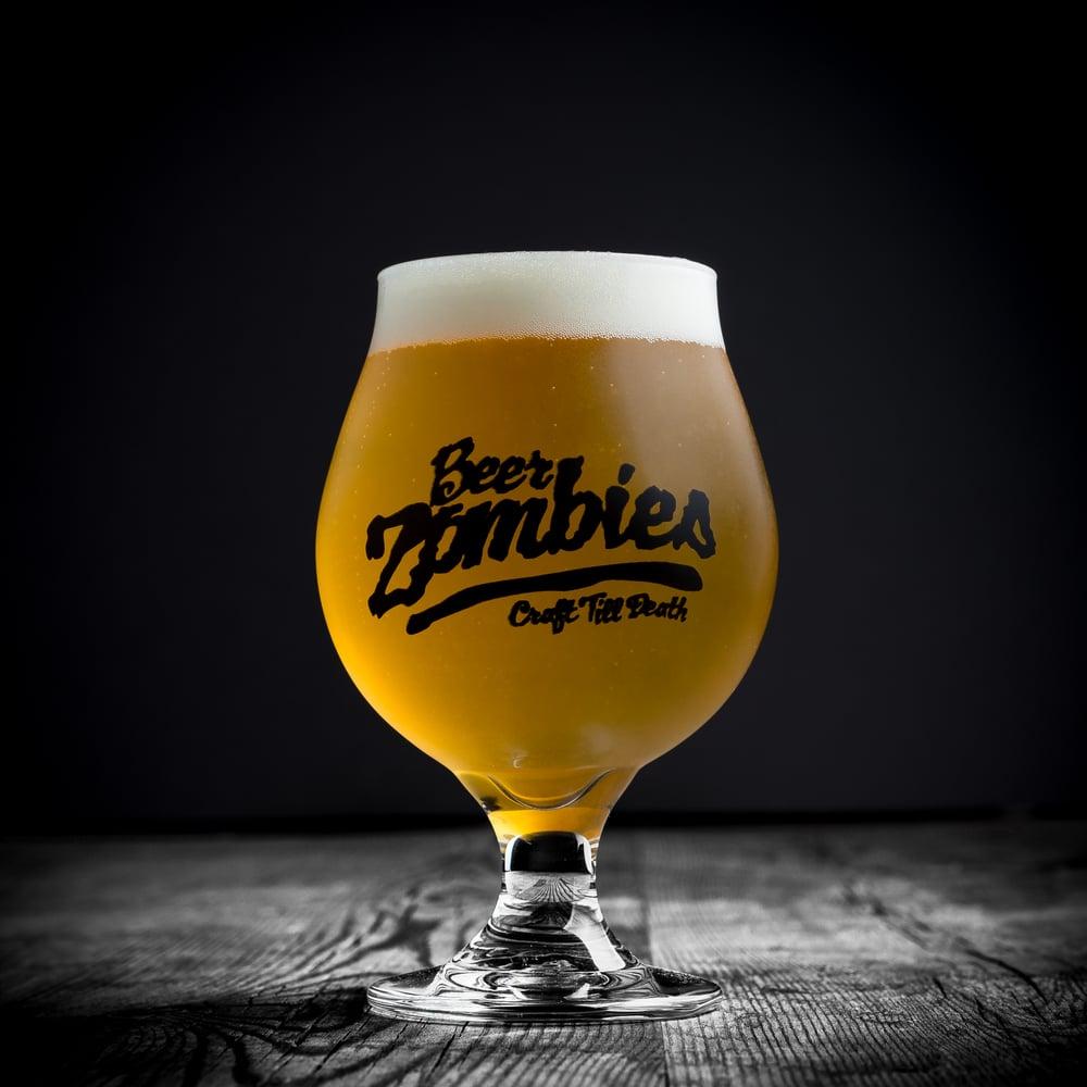 Beer Zombies 16oz stemmed tulip glass