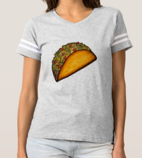 Image of Women's Gray Athletic Style Taco Shirt