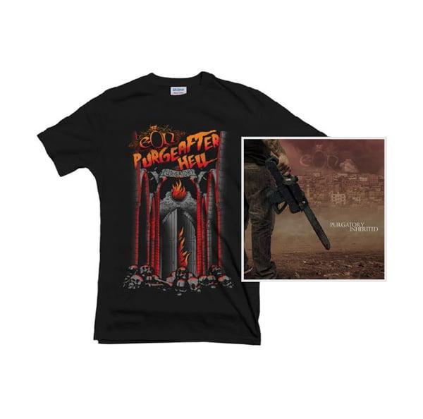 Image of Purgatory Inherited LP + Purge After Hell Shirt