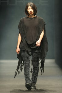 Image of Shredded Poncho With Front Drape