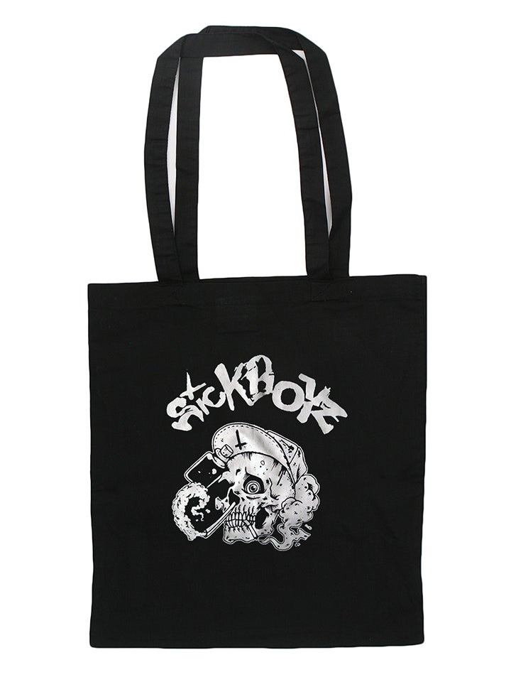 Image of Black Skull Tote Bag