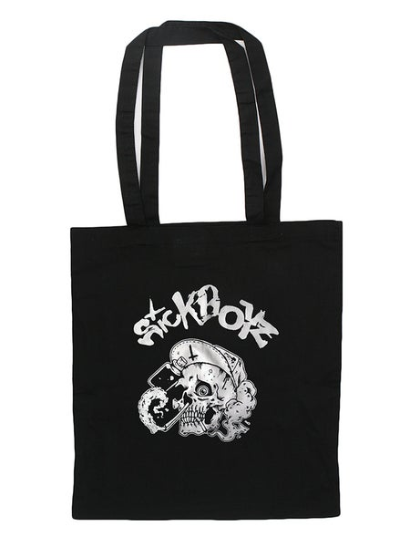Image of Black Skull Tote Bag