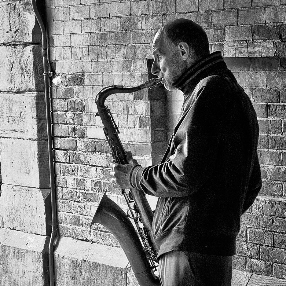 Image of Sax in the City (Fine Art Print)
