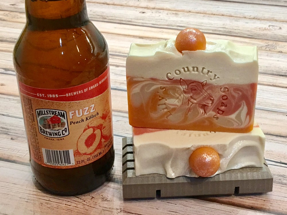 "Image of ""Fuzz"" Peach Goat Milk & Beer Soap"