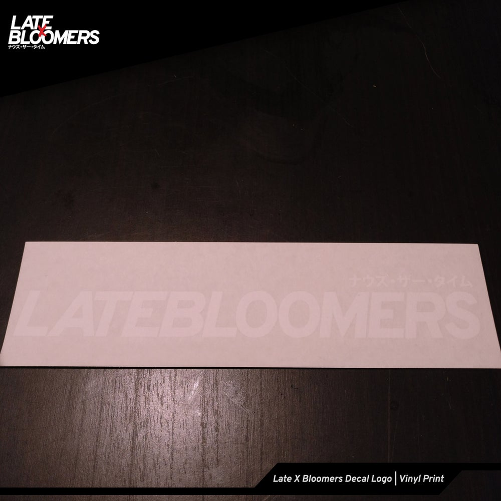 Image of Late X Bloomers Decal Logo | Vinyl Print