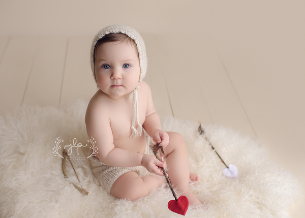 Image of Sitter Set - Eco Harper Victorian - Knit Bonnet and Shorts | Photography Props