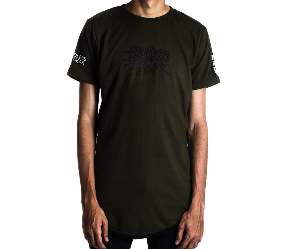 Image of 'Metal 02' Tshirt (Army Green)