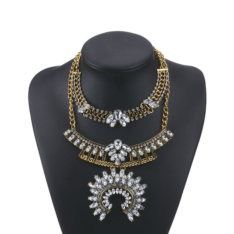 Image of Shine Statement Necklace Gold