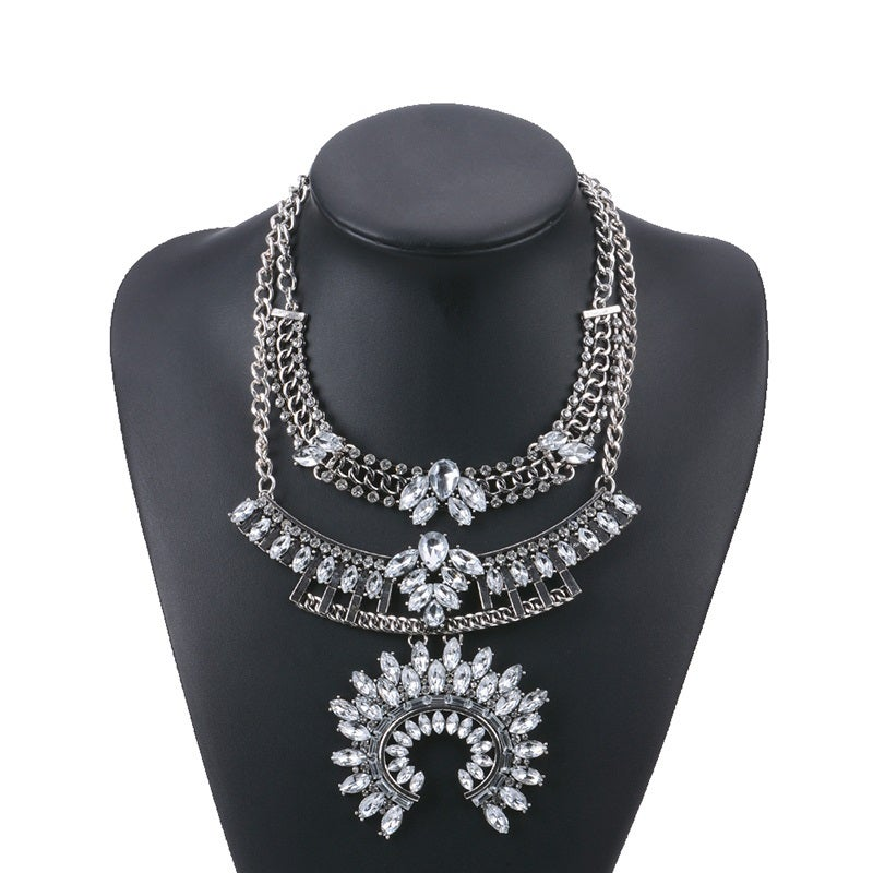 Image of Shine Statement Necklace Silver