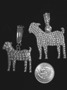 Image of Crystal Goat pendants