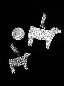 Image of Crystal Beef animal pendants