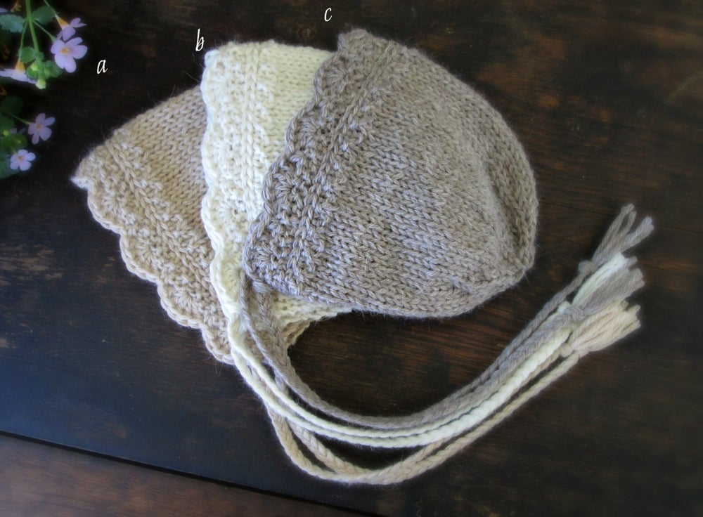 Image of Angelina Bonnet, Undyed Alpaca, Newborn