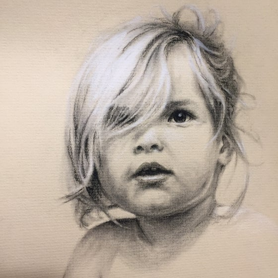Image of Custom Pastel and Conte Portrait