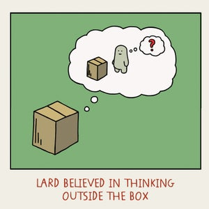 Image of GREETINGS CARD - 'Outside the Box'