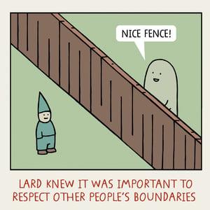 Image of GREETINGS CARD - 'Boundaries'