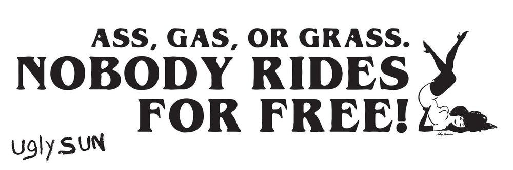 Image of ASS GAS OR GRASS STICKER
