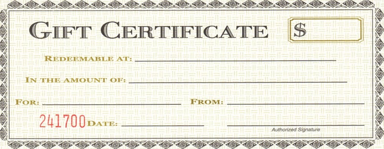 Image of #0000 GIFT CERTIFICATE