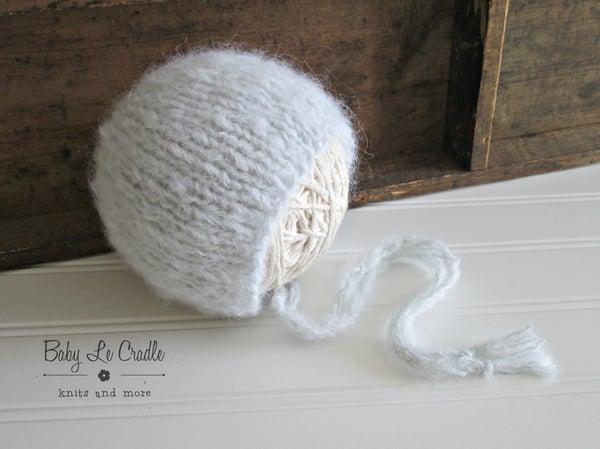 Image of Newborn Bonnet - Brushed Suri Alpaca | Classic Round Back | Newborn Prop