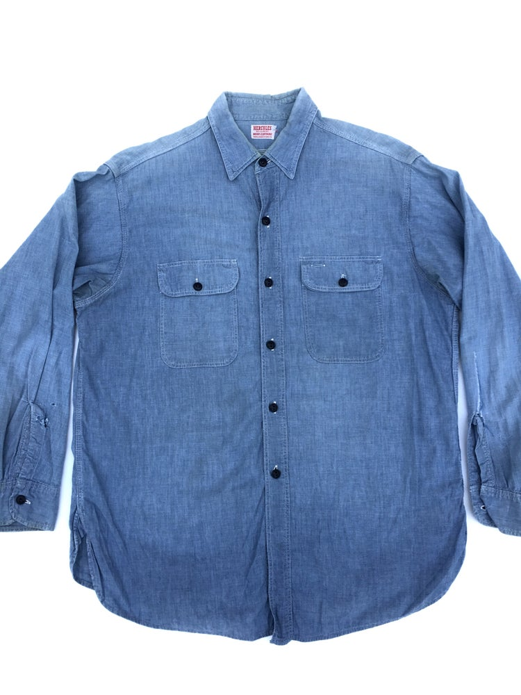 Image of 40's HERCULES CHAMBRAY WORK SHIRT