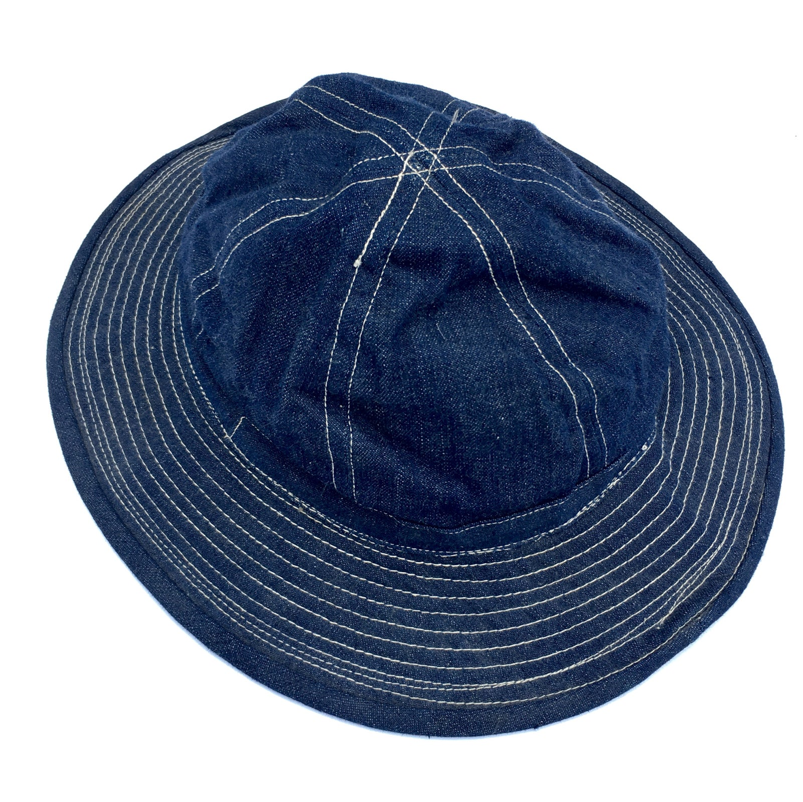 Image of VINTAGE WWII ERA DAISY MAE DENIM HAT