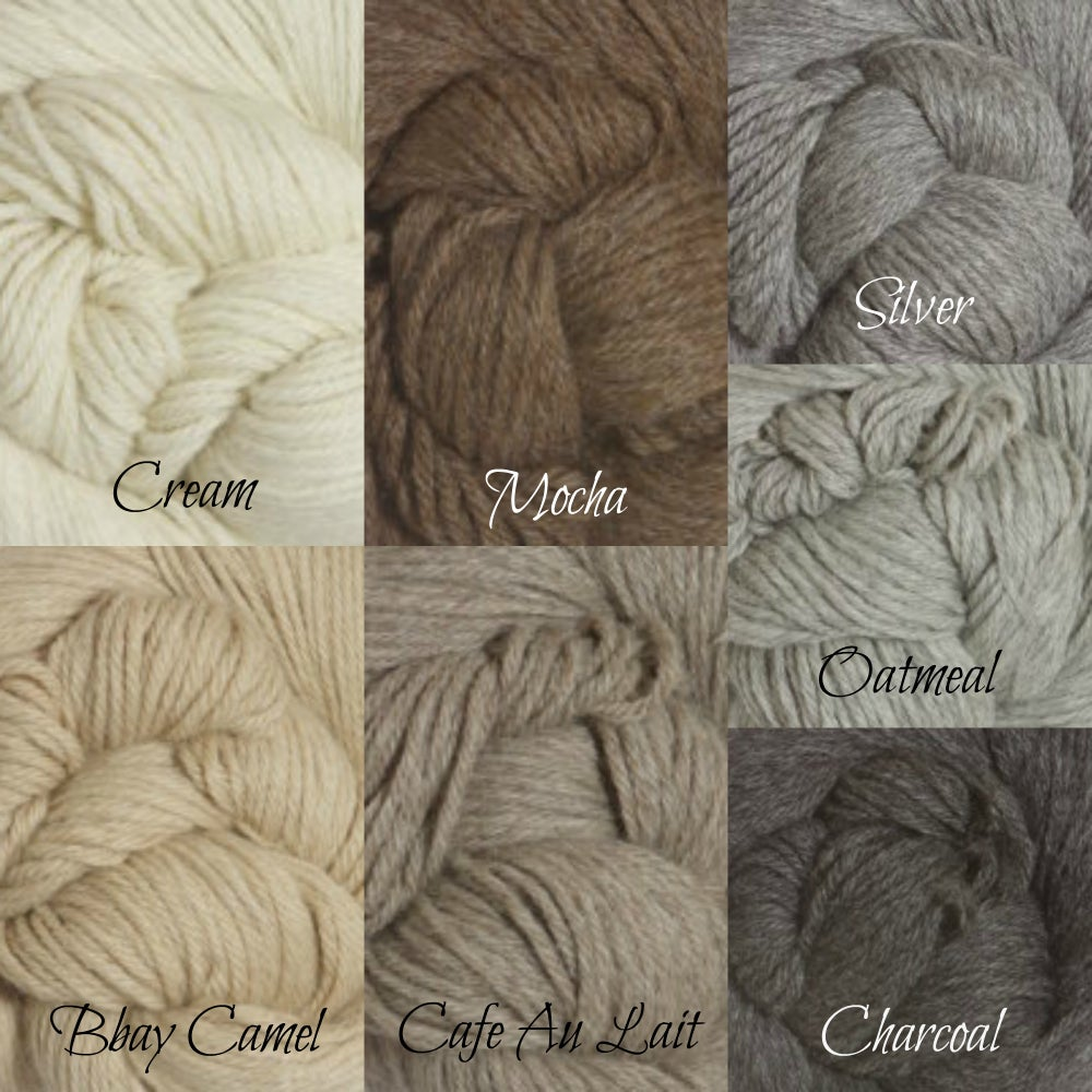 Image of Sitter Regina Eco Bonnet, Undyed Alpaca, Knit Photography Prop