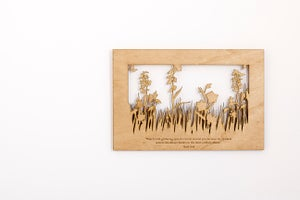 Image of Meadow Scene - Medium With Quote