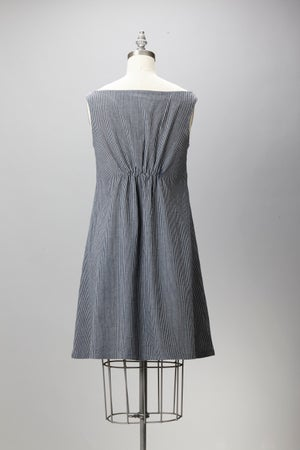 Image of Keyhole Dress - Engineer Stripe