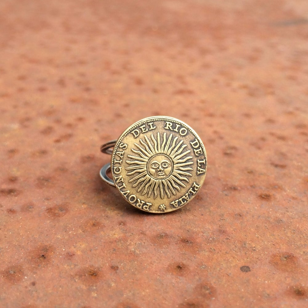 Image of Sun coin ring