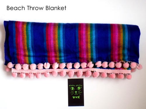 Image of Serape Beach Throw Blanket