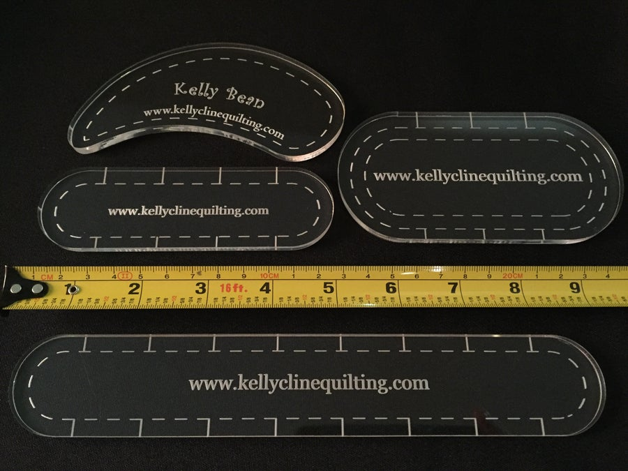 Image of 4 Ruler Set for Domestic or Longarm Machine