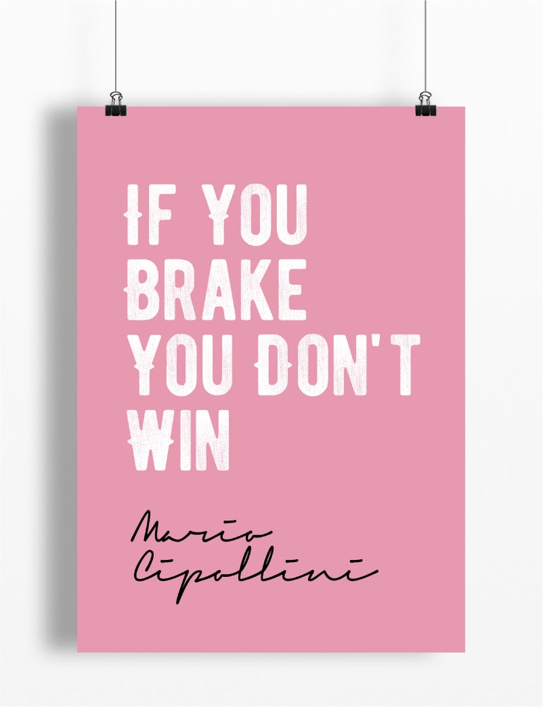 Image of Mario Cipollini quote print - A4