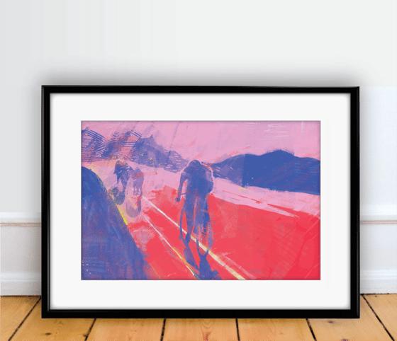 Image of Maglia Rosa print A4 - By Matthew Burton