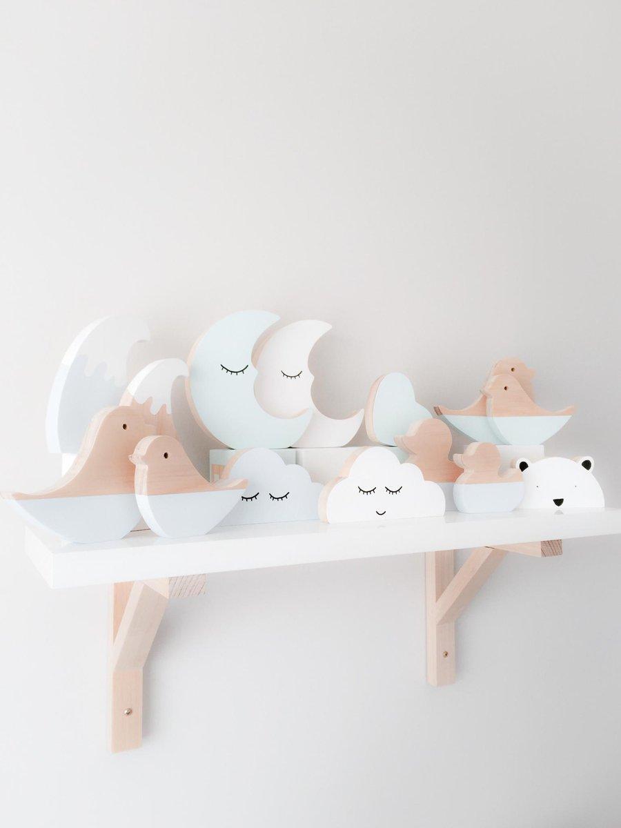 Image of Assorted scandi shelf decor